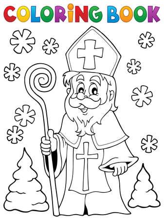 saint nicolas: Coloring book Saint Nicolas theme 1