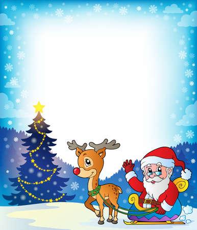 marcos decorados: Capítulo con Santa Claus es el tema 7 Vectores