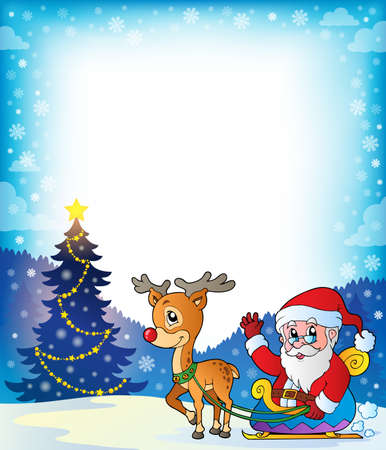 decorated: Frame with Santa Claus theme 7  Illustration