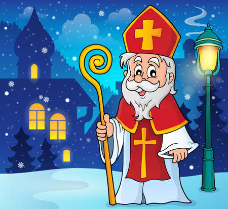 saint nicholas: Saint Nicolas theme image 2   Illustration