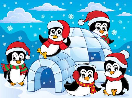 ペンギン テーマ 2 とイグルー