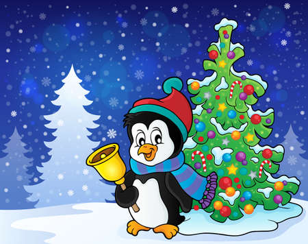 outdoor event: Christmas penguin