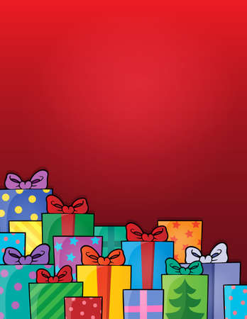 festive occasions: Image with gift theme  Illustration