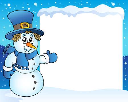 neckscarf: Frame with snowman