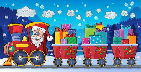 Christmas train theme   Illustration