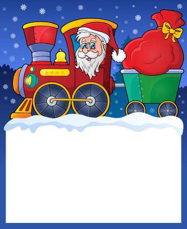 christmas train: Small frame with Christmas train