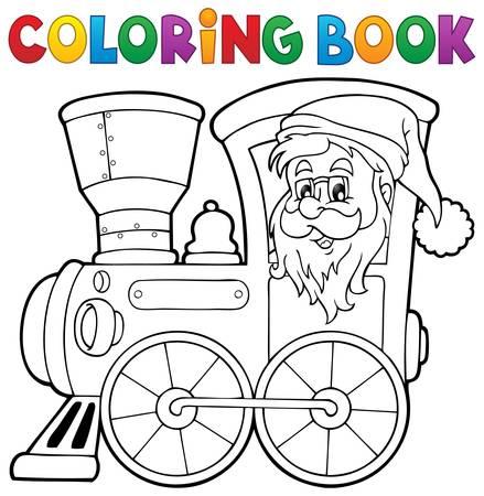 locomotive: Coloring book Christmas locomotive