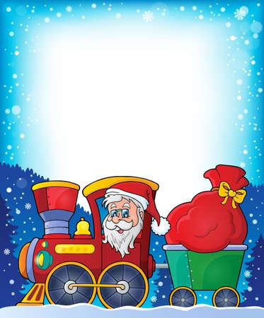 christmas train: Frame with Christmas train   Illustration
