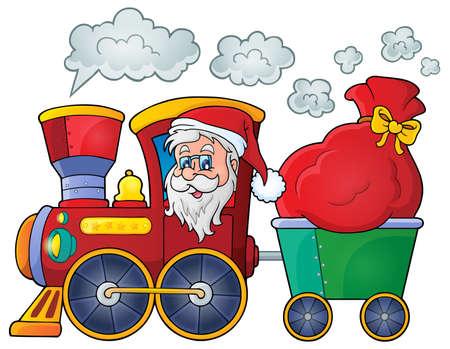 christmas train: Christmas train theme  Illustration