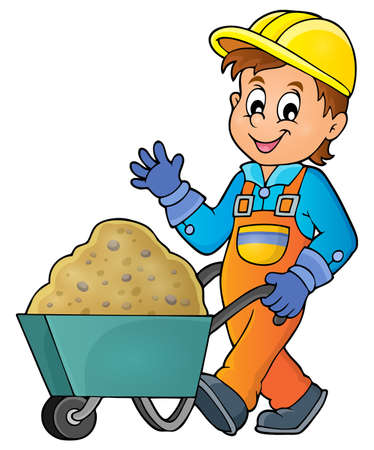 carry on: Construction worker theme image 1 -   vector illustration.