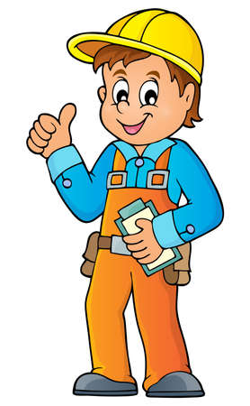 Industrial workers: Construction worker theme image 3 -   vector illustration. Illustration