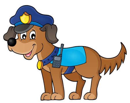 perro policia: Policía de la imagen el tema 1 perro - ilustración vectorial eps10.