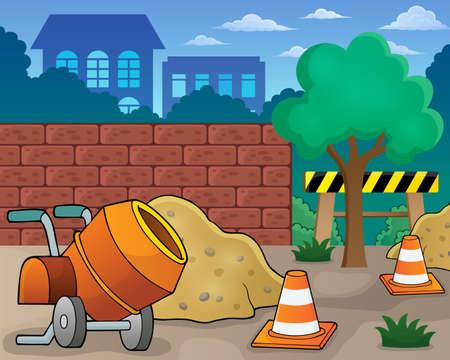 site: Construction site theme image 1 -   vector illustration.