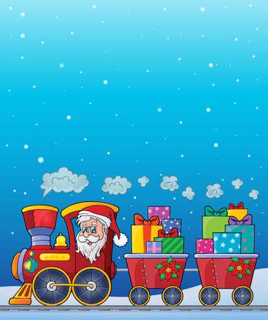 christmas train: Christmas train theme image - vector illustration. Illustration