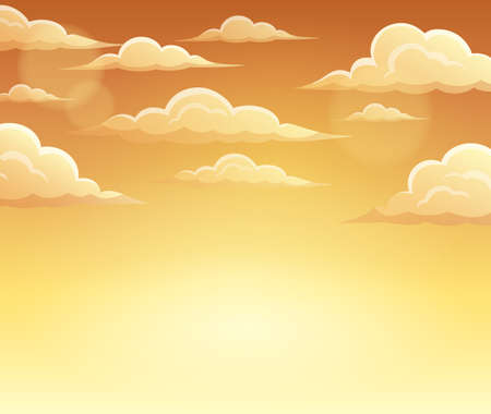 windy day: Autumn sky theme background - vector illustration.
