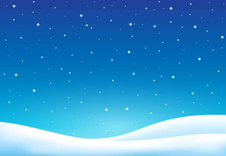Winter theme background - vector illustration. Çizim