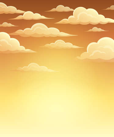 windy day: Autumn sky theme background - vector illustration.