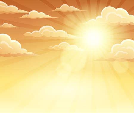 Autumn sky theme background - vector illustration.
