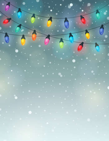 Christmas lights theme image 6 - eps10 vector illustration. Ilustracja