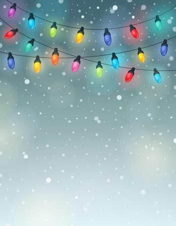 Christmas lights theme image 6 - eps10 vector illustration. Vectores