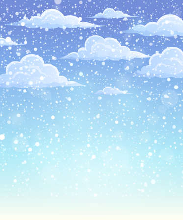 the snowflake: Winter sky theme background 1 - eps10 vector illustration.