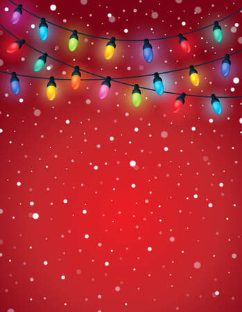 Christmas lights theme image 5 - eps10 vector illustration.