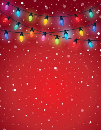 light: Las luces de Navidad de la imagen Tema 5 - ilustración vectorial eps10.