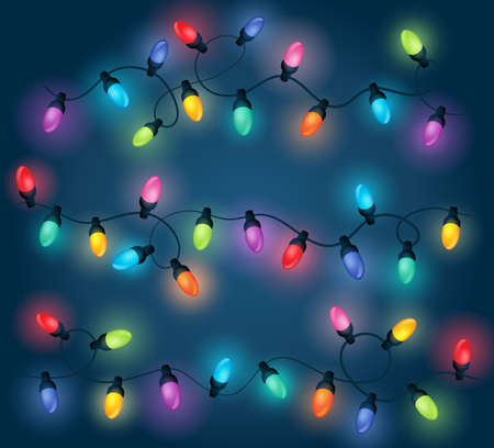Christmas lights theme image 1 - eps10 vector illustration. Vectores