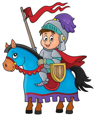 Ritter Pferdethemabild 1 auf - eps10 Vektor-Illustration. Standard-Bild - 48150171