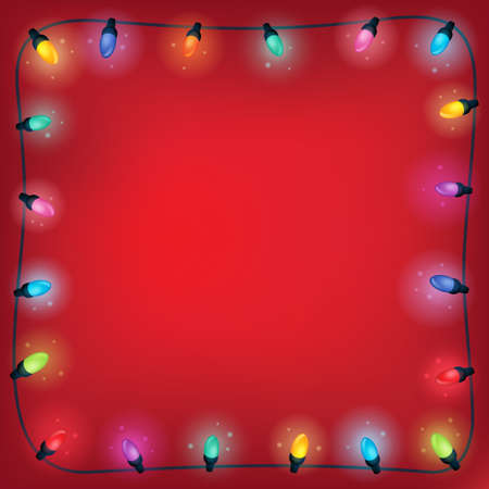 christmas lights: Christmas lights theme frame 1 - eps10 vector illustration.