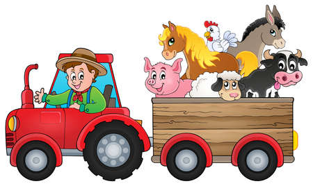 Tractor theme image 2 -   vector illustration.