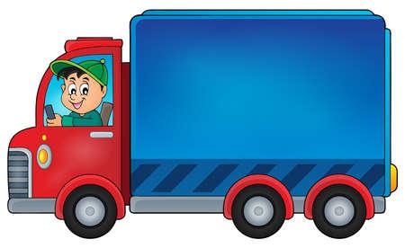 moving van: Delivery car theme image  vector illustration. Illustration