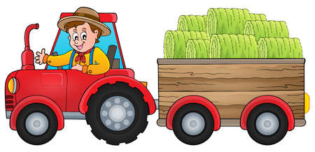 Tractor theme image   vector illustration.