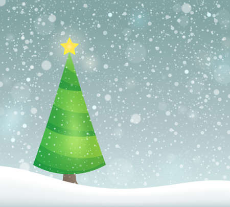 topic: Stylized Christmas tree topic image   vector illustration.