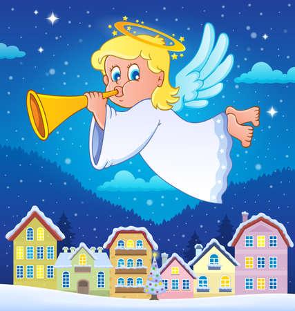 mythological character: Angel theme image  vector illustration.