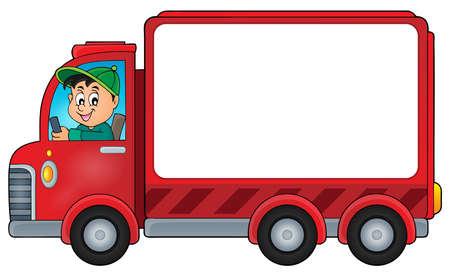 truck driver: Delivery car theme image    vector illustration. Illustration
