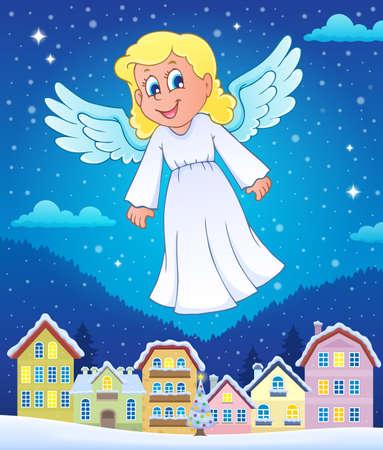 midair: Angel theme image vector illustration. Illustration