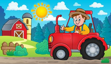 farmyard: Tractor theme image