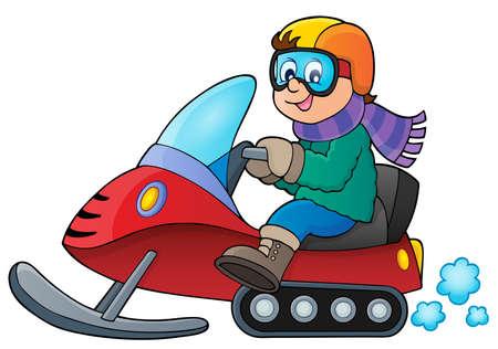 neckscarf: Snowmobile theme image