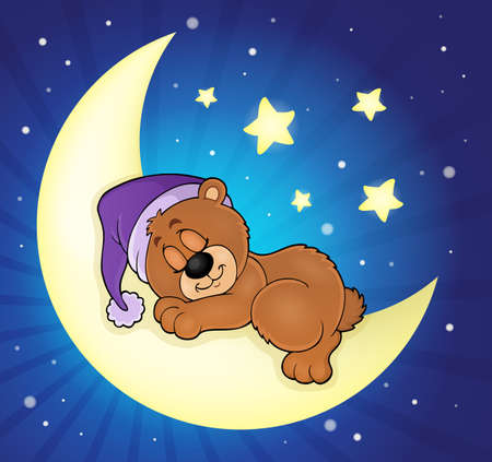 Sleeping bear theme image  イラスト・ベクター素材