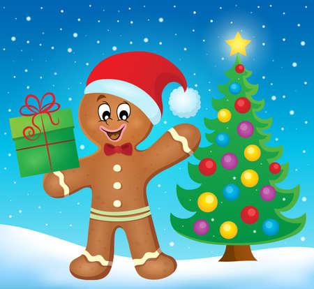 gingerbread man: Gingerbread man theme image