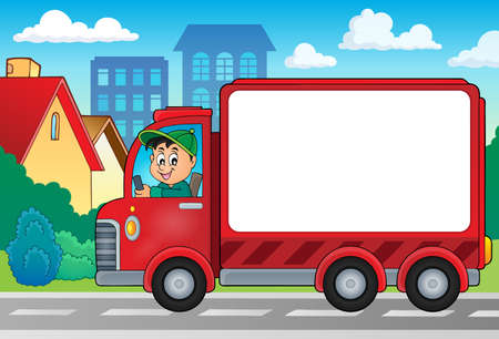 moving van: Delivery car theme image