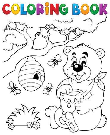 Coloring book bear theme