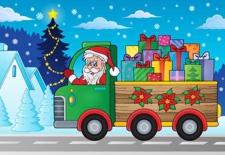 Christmas truck theme image