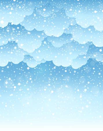 Winter sky theme background Illustration