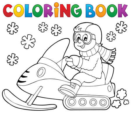 protective: Coloring book snowmobile theme