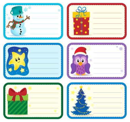name tags: Christmas name tags collection Illustration