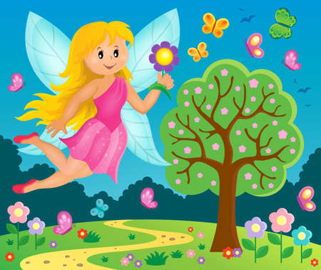 butterfly myth: Happy fairy theme image