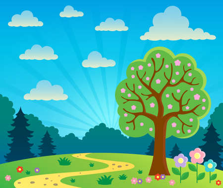 growing tree: Spring topic scenery