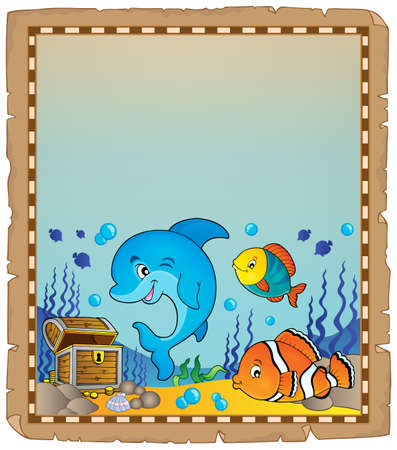 theme: Parchment with underwater theme